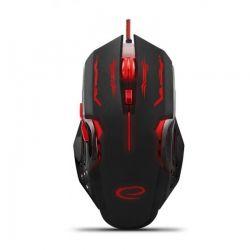 Ενσύρματο Οπτικό Ποντίκι Gaming με 6 Πλήκτρα USB 2400 DPI MX403 Apache Χρώματος Μαύρο - Κόκκινο Esperanza EGM403R