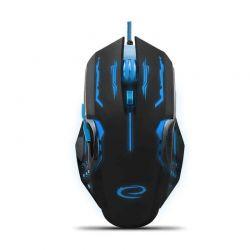 Ενσύρματο Οπτικό Ποντίκι Gaming με 6 Πλήκτρα USB 2400 DPI MX403 Apache Χρώματος Μαύρο - Μπλε Esperanza EGM403B
