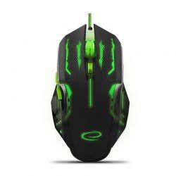 Ενσύρματο Οπτικό Ποντίκι Gaming με 6 Πλήκτρα USB 2400 DPI MX403 Apache Χρώματος Μαύρο - Πράσινο Esperanza EGM403G