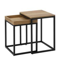Σετ Μεταλλικά Βοηθητικά Τραπέζια Nesting 45 x 55 x 40 cm Songmics XLNT02N