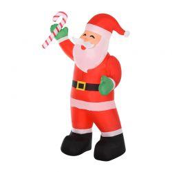 Φουσκωτός Άγιος Βασίλης 243 cm με LED Φωτισμό HOMCOM 844-298