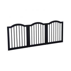 Ξύλινο Αναδιπλούμενο Προστατευτικό για Κατοικίδια 61 x 154.5 cm Χρώματος Μαύρο PawHut D06-048BK