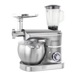 Κουζινομηχανή 3 σε 1 2200 W Χρώματος Ασημί Royalty Line RL-PKM2200BG Silver