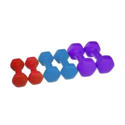 Σετ Αλτήρες 1 - 2.5 Kg σε Βαλιτσάκι 6 τμχ Hoppline HOP1001053