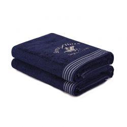 Σετ με 2 Πετσέτες Μπάνιου 70 x 140 cm Χρώματος Navy Beverly Hills Polo Club 355BHP2497