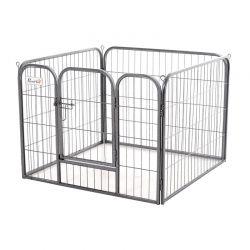 Τετράγωνο Μεταλλικό Κλουβί - Πάρκο Εκπαίδευσης Σκύλου 82 x 82 x 60 cm PawHut D06-074