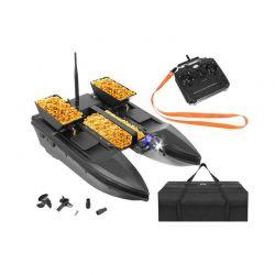 Τηλεκατευθυνόμενο Σκάφος Catamaran για Ψάρεμα με 3 Δοχεία Δολώματος και Τηλεχειριστήριο SPM 9774