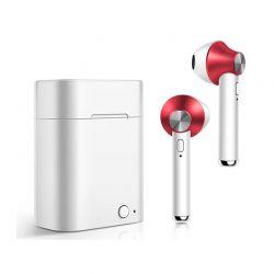 Ασύρματα Ακουστικά Bluetooth με Βάση Φόρτισης Χρώματος Κόκκινο Kequ DYN-K410