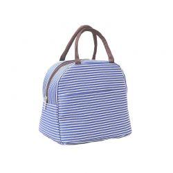 Ισοθερμική Ριγέ Τσάντα Φαγητού Χρώματος Μπλε SPM VL3336