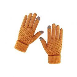 Πλεκτά Γάντια για Οθόνη Αφής Χρώματος Πορτοκαλί SPM DB7170