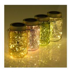 Σετ Ηλιακά Διακοσμητικά Βάζα με LED Πολύχρωμο Φωτισμό 4 τμχ Outsunny 844-258