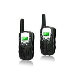Σετ Παιδικοί Ασύρματοι Πομποδέκτες - Eνδοεπικοινωνία Walkie Talkie Χρώματος Μαύρο 2 τμχ SPM DYN-5059059076028