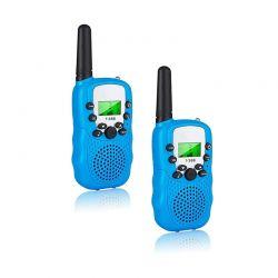 Σετ Παιδικοί Ασύρματοι Πομποδέκτες - Eνδοεπικοινωνία Walkie Talkie Χρώματος Μπλε 2 τμχ SPM DYN-5059059076004