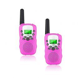 Σετ Παιδικοί Ασύρματοι Πομποδέκτες - Eνδοεπικοινωνία Walkie Talkie Χρώματος Ροζ 2 τμχ SPM DYN-5059059076011