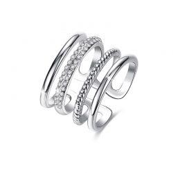 Δαχτυλίδι Grace με Κρύσταλλα Swarovski® Χρώματος Ασημί Beloved 652071
