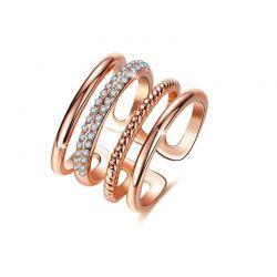 Δαχτυλίδι Grace με Κρύσταλλα Swarovski® Χρώματος Ροζ - Χρυσό Beloved 652071