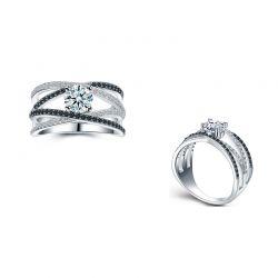 Δαχτυλίδι Μονόπετρο Destiny Round με Κρύσταλλα Swarovski® Beloved 652059