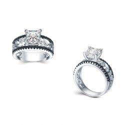 Δαχτυλίδι Μονόπετρο Destiny Squared με Κρύσταλλα Swarovski® Beloved 652060
