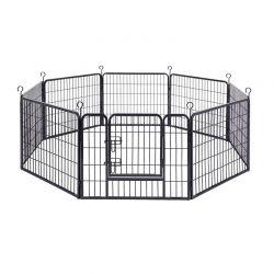 Οκτάγωνο Μεταλλικό Κλουβί - Πάρκο Εκπαίδευσης Σκύλου Βαρέως Τύπου 77 x 60 cm Feandrea PPK86H