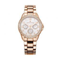 Γυναικείο Ρολόι Χρώματος Ροζ-Χρυσό με Μεταλλικό Μπρασελέ και Κρύσταλλα Swarovski® Timothy Stone K-021-ALRG