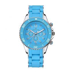 Γυναικείο Ρολόι Χρώματος Μπλε - Ασημί με Μπλε Λουράκι Σιλικόνης Timothy Stone A-015-BLSL