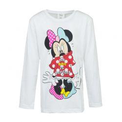 Παιδική Μακρυμάνικη Μπλούζα Χρώματος Λευκό Minnie Disney WD11636