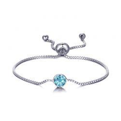 Βραχιόλι Philip Jones με Γενέθλια Πέτρα Μάρτιος - Aquamarine με Κρύσταλλα Swarovski®
