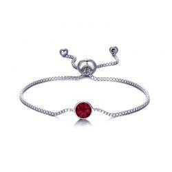 Βραχιόλι Philip Jones με Γενέθλια Πέτρα Ιούλιος - Ruby με Κρύσταλλα Swarovski®
