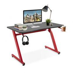 Μεταλλικό Γραφείο για Gaming 120 x 65 x 74.5 cm Χρώματος Κόκκινο HOMCOM 836-205RD