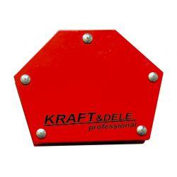Εξάγωνη Μαγνητική Γωνία Συγκράτησης Μετάλλων για Ηλεκτροσυγκόλληση έως 22.6 Kg Kraft&Dele KD-1896