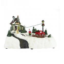 Μουσικό Χριστουγεννιάτικο Καρουζέλ με Φώτα και Κίνηση MWS17654