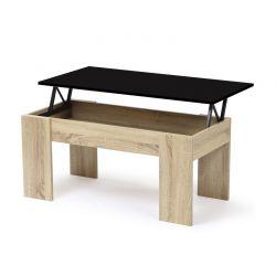 Ξύλινο Τραπέζι Σαλονιού 100 x 70 x 57 cm Χρώματος Καφέ Ανοιχτό Gloria Idomya 30084283