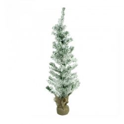 Χριστουγεννιάτικο Δέντρο 90 cm Χιονισμένο με Βάση Λινάτσα MWS17661