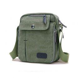 Ανδρική Τσάντα Χιαστί Canvas Χρώματος Πράσινο SPM DB5606