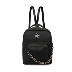 Γυναικεία Τσάντα Πλάτης Χρώματος Μαύρο Beverly Hills Polo Club 668BHP0196