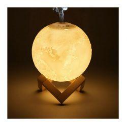 Επαναφορτιζόμενο Φωτιστικό Αφής Φεγγάρι 3D με Εναλλασσόμενο LED Φωτισμό και Υγραντήρα GEM BN3596