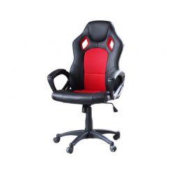 Καρέκλα Gaming Χρώματος Μαύρο - Κόκκινο Hoppline HOP1000870-3