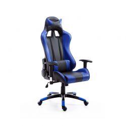Καρέκλα Gaming 67 x 67 x 123-132 cm Χρώματος Μπλε HOMCOM 921-037BU