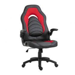 Καρέκλα Γραφείου 66.5 x 51 x 115-125 cm Χρώματος Κόκκινο Vinsetto 921-339RD
