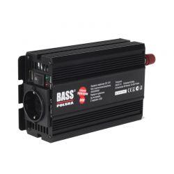 Μετατροπέας - Inverter Ισχύος Αυτοκινήτου Πλήρους Ημιτονοειδούς με USB 600 W DC 12V σε AC 300V Bass Polska BP-5009