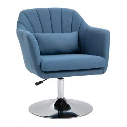 Πολυθρόνα 57 x 57 x 77.5-87 cm Χρώματος Μπλε HOMCOM 833-757V01BU