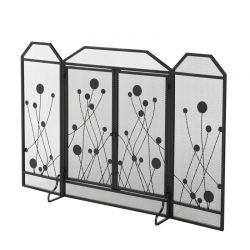 Πτυσσόμενη Μεταλλική Σίτα Τζακιού με 2 Μαγνητικές Πόρτες 125 x 80 cm HOMCOM 830-276