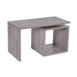 Ξύλινο Τραπέζι Σαλονιού 77 x 40 x 44 cm Χρώματος Γκρι HOMCOM 833-136GY