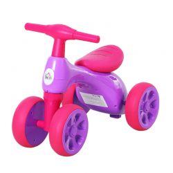 Παιδικό Ποδήλατο Ισορροπίας με 4 Ρόδες Χρώματος Μωβ HOMCOM 370-088VT