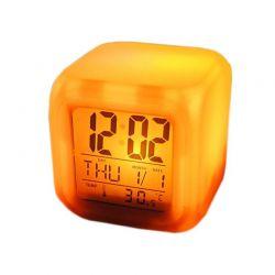 Ρολόι - Ξυπνητήρι με Οθόνη LCD και Αλλαγή Χρώματος LED SPM 0149