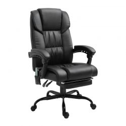 Καρέκλα Γραφείου Μασάζ 6 Σημείων με Υποπόδιο Vinsetto 921-275BK