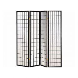 Ξύλινο Διαχωριστικό Χώρου με 4 Πάνελ Hoppline HOP1001019-2