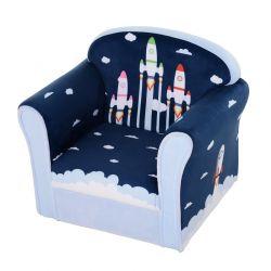 Παιδική Πολυθρόνα Πύραυλοι 44 x 50 x 39 cm HOMOCOM 310-026BU