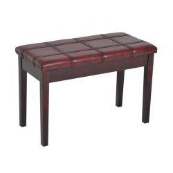 Ξύλινο Κάθισμα Πιάνου 75 x 35 x 49 cm Χρώματος Μπορντό HOMCOM 833-516