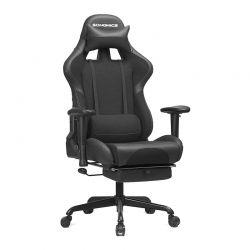 Καρέκλα Gaming με Υποπόδιο Χρώματος Μαύρο Songmics RCG52BK